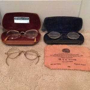 Bundle of 3 Vintage Eyeglasses